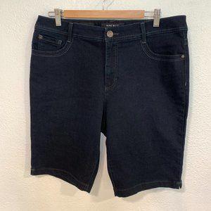 Nine West Black Denim Jean Shorts Super Stretch 16